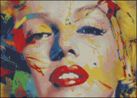 Esquema de Marilyn Monroe en Punto de Cruz (1)
