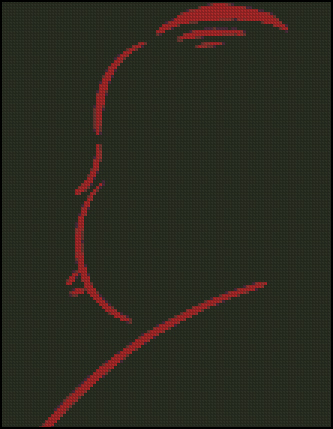 Esquema de Alfred Hitchcock en Punto de Cruz (1)