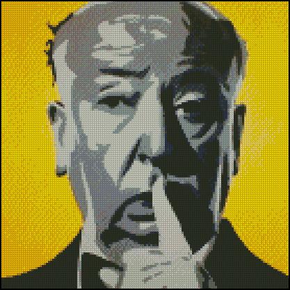 Esquema de Alfred Hitchcock  en Punto de Cruz