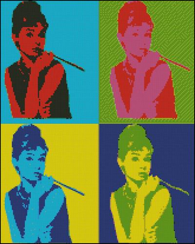 Esquema de Audrey Hepburn en Punto de Cruz (12)
