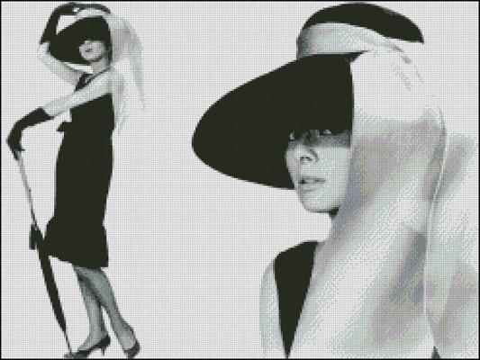 Esquema de Audrey Hepburn en Punto de Cruz (7)