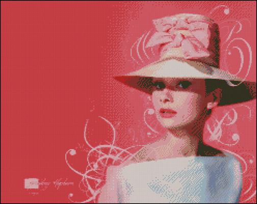 Esquema de Audrey Hepburn en Punto de Cruz (9)