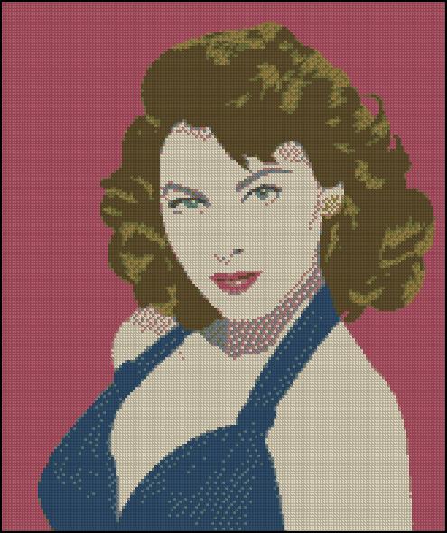 Esquema de Ava Gardner en Punto de Cruz