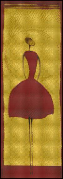 Esquema de Bailarinas en Punto de Cruz (11)