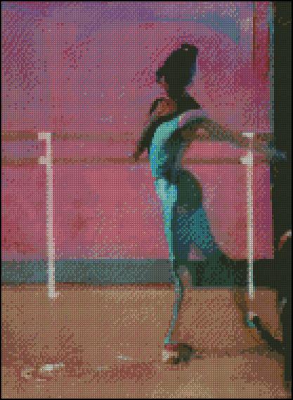 Esquema de Bailarinas en Punto de Cruz (4)