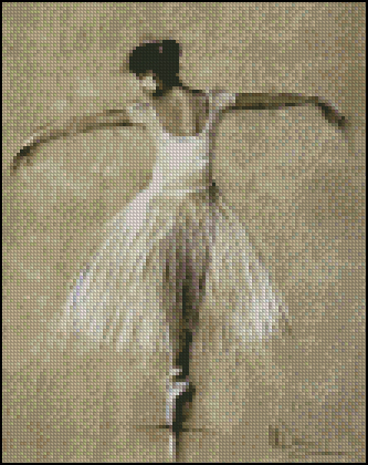 Esquema de Bailarinas en Punto de Cruz (5)