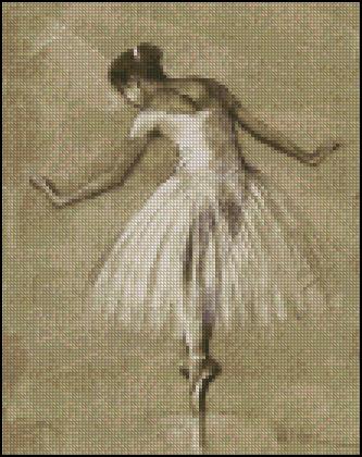 Esquema de Bailarinas en Punto de Cruz (7)