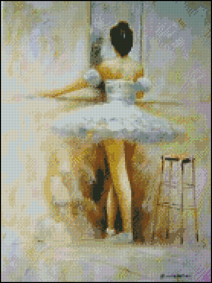 Esquema de Bailarinas en Punto de Cruz (8)