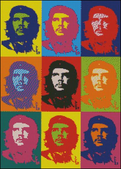 Esquema de Che Guevara en Punto de Cruz