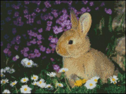 Esquema de Conejos en Punto de Cruz (2)