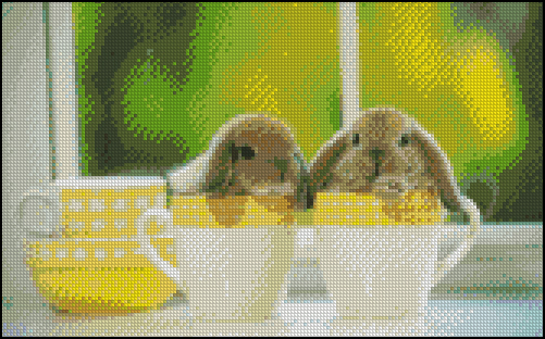 Esquema de Conejos en Punto de Cruz (3)