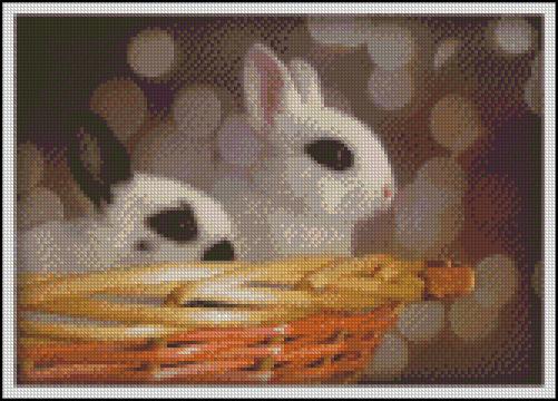 Esquema de Conejos en Punto de Cruz (4)