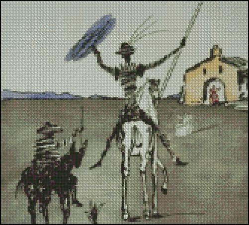 Esquema de Cuadros de Dalí en Punto de Cruz (10)