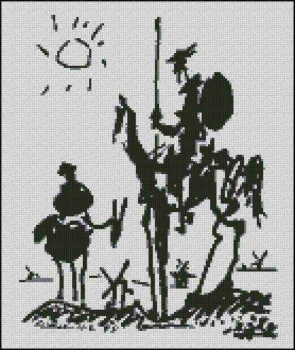 Esquema de Cuadros de Dalí en Punto de Cruz (2)