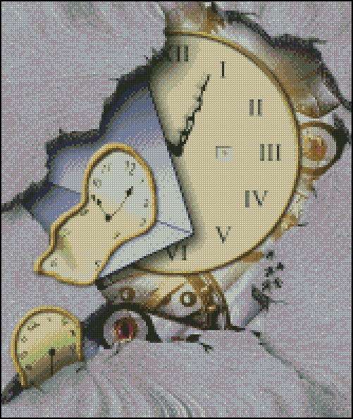 Esquema de Cuadros de Dalí en Punto de Cruz (3)