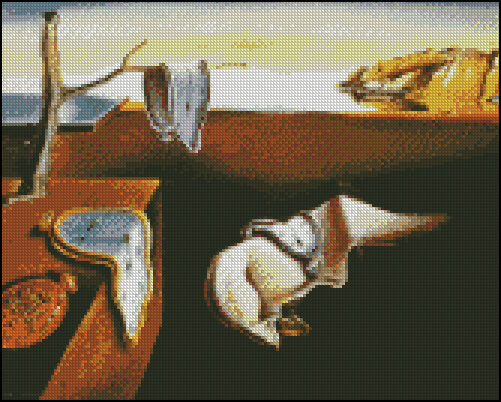 Esquema de Cuadros de Dalí en Punto de Cruz (7)