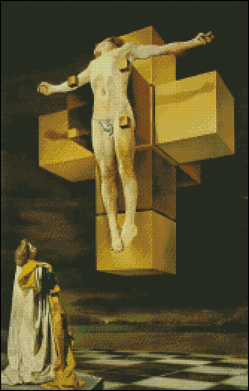 Esquema de Cuadros de Dalí en Punto de Cruz