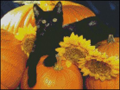 Esquema de Gatos en Punto de Cruz (11)