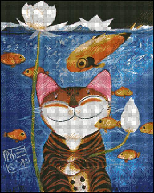 Esquema de Gatos en Punto de Cruz (2)