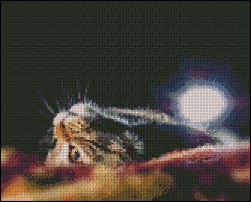 Esquema de Gatos en Punto de Cruz