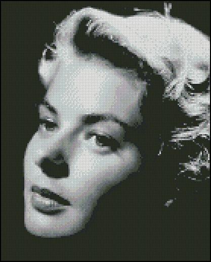 Esquema de Ingrid Bergman en Punto de Cruz