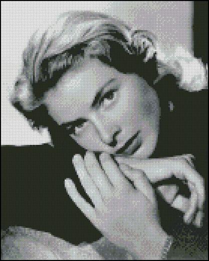 Esquema de Ingrid Bergman en Punto de Cruz (2)