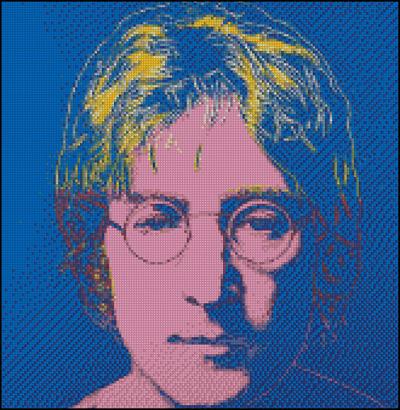 Esquema de John Lennon en Punto de Cruz