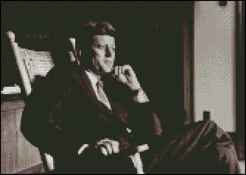 Esquema de John F. Kennedy en Punto de Cruz