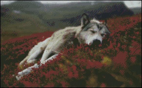 Esquema de Lobos en Punto de Cruz (1)