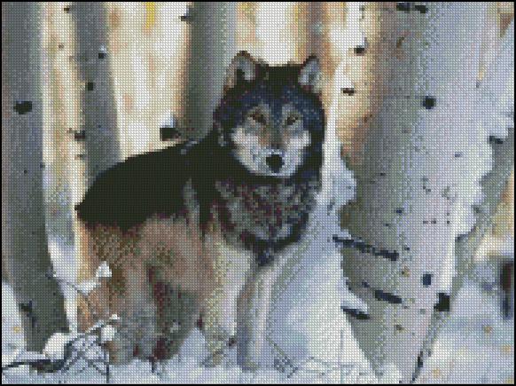 Esquema de Lobos en Punto de Cruz (2)