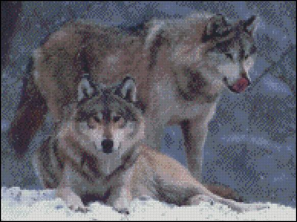 Esquema de Lobos en Punto de Cruz (3)