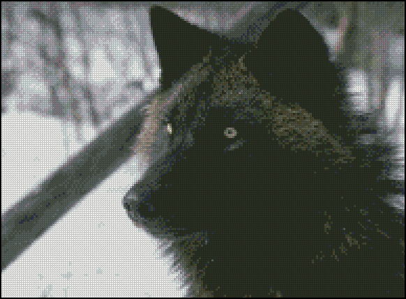 Esquema de Lobos en Punto de Cruz