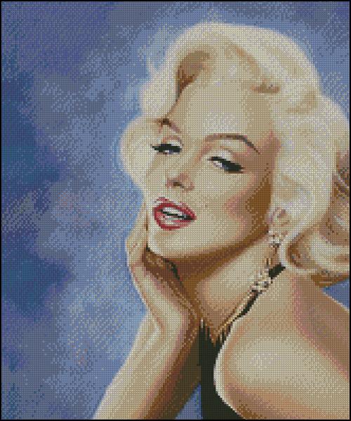 Esquema de Marilyn Monroe en Punto de Cruz (10)