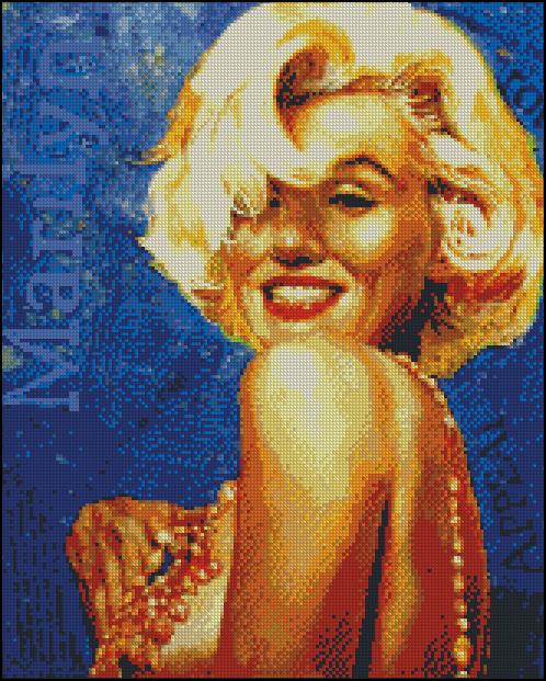 Esquema de Marilyn Monroe en Punto de Cruz (11)