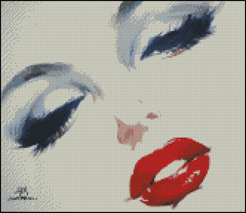 Esquema de Marilyn Monroe en Punto de Cruz (12)