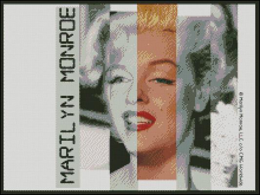 Esquema de Marilyn Monroe en Punto de Cruz (3)