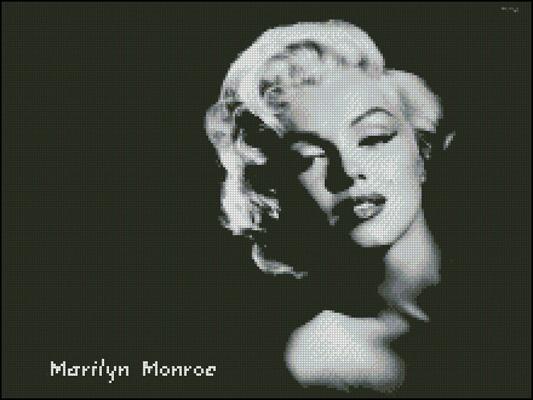 Esquema de Marilyn Monroe en Punto de Cruz (4)