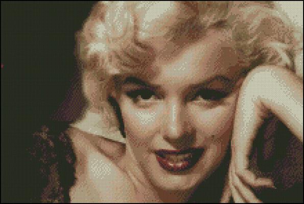 Esquema de Marilyn Monroe en Punto de Cruz (5)