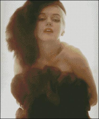 Esquema de Marilyn Monroe en Punto de Cruz (6)