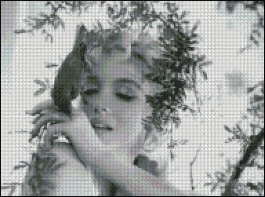 Esquema de Marilyn Monroe en Punto de Cruz (7)