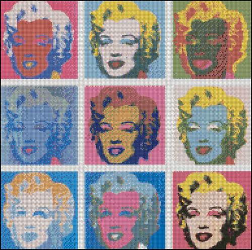 Esquema de Marilyn Monroe en Punto de Cruz (9)