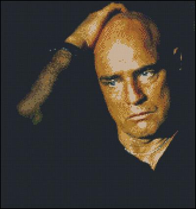 Esquema de Marlon Brando en Punto de Cruz (2)