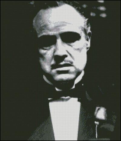 Esquema de Marlon Brando en Punto de Cruz
