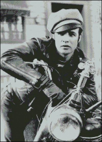 Esquema de Marlon Brando en Punto de Cruz (4)