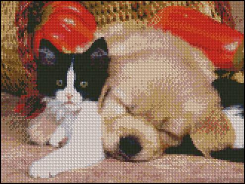 Esquema de Perros en Punto de Cruz