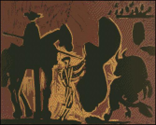 Esquema de Cuadros de Picasso en Punto de Cruz