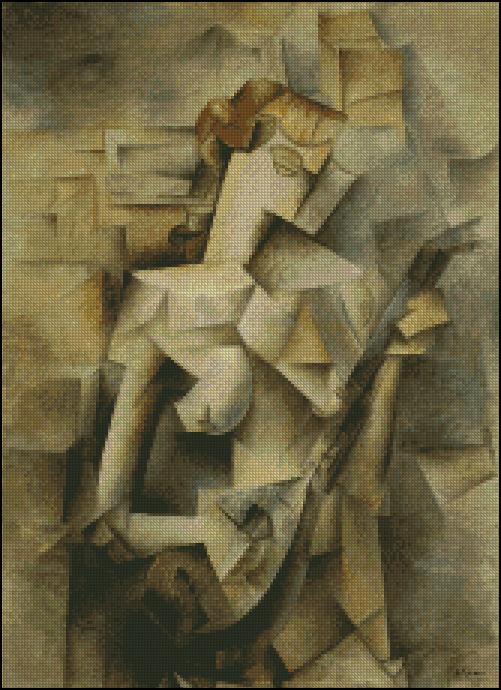 Esquema de Cuadros de Picasso en Punto de Cruz (6)