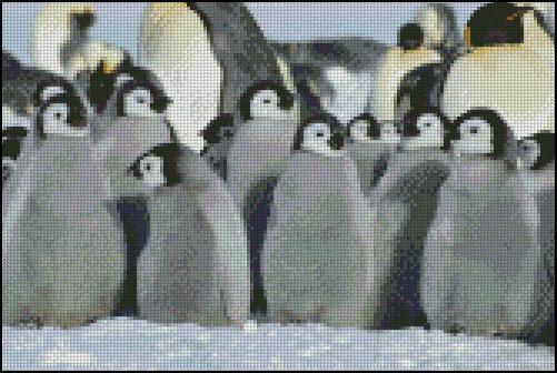 Esquema de Pingüinos en Punto de Cruz