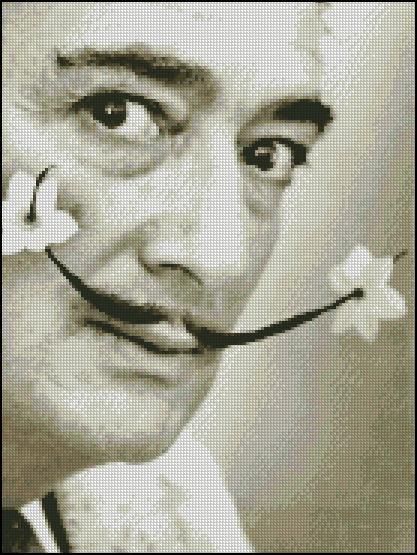 Esquema de Salvador Dalí en Punto de Cruz (1)
