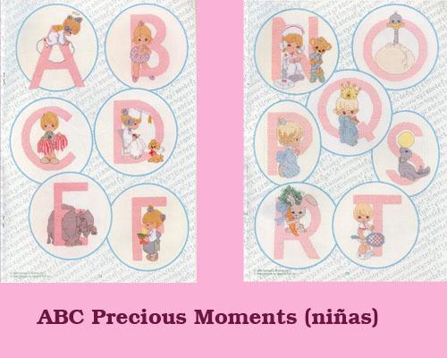 Esquema de Abecedario de Precious Moments (niñas)